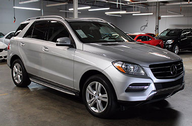 Mercedes-Benz SUV being bought with assistance from our bad credit auto financing near Belmont, California.