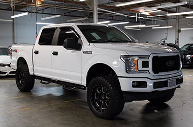 White Ford Truck for sale at our bad credit auto dealers near Newark, California.